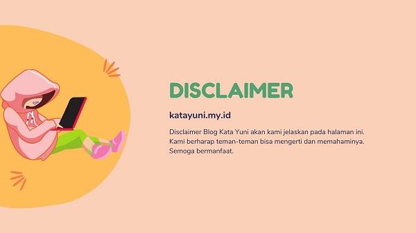 Disclaimer Blog Kata Yuni